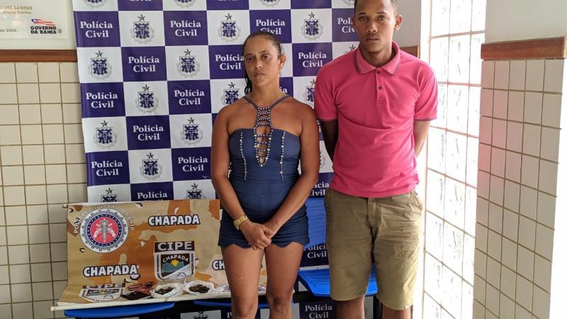 Casal de traficantes é preso em pela Cipe Chapada em Ruy Barbosa