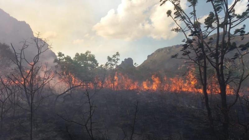 Incêndio atinge Vale dos Três Morros, na Chapada Diamantina, e destrói vegetação