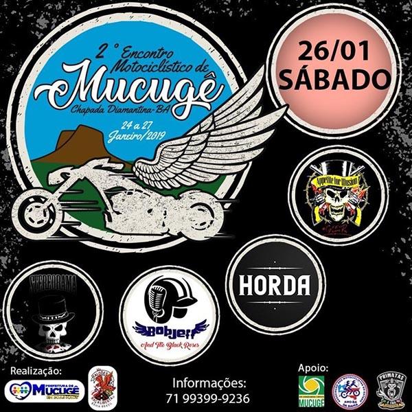 2º Encontro de Motociclistas da Chapada Diamantina começa nesta quinta em Mucugê