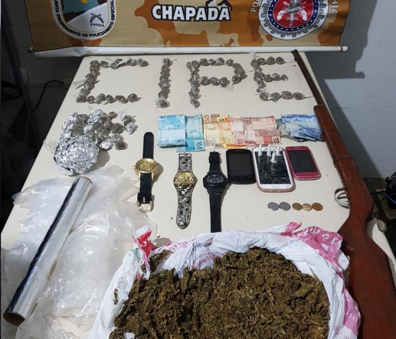 Cipe Chapada prende cinco traficantes em um só dia em Palmeiras, Iaçu e Itaberaba