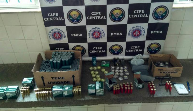 Cipe Central desmonta comércio ilegal de munições em Ituaçu