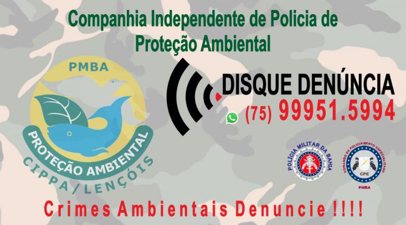 Companhia Independente de Proteção Ambiental divulga whatsapp denúncia com sigilo absoluto