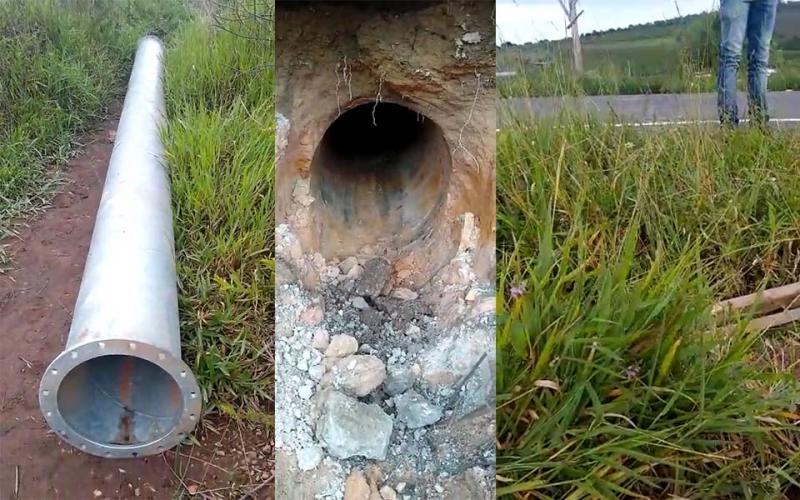 Ibicoara: Moradores do Povoado Paraguaçu denunciam mega estrutura montada por Empresa para desviar água do rio próximo da nascente