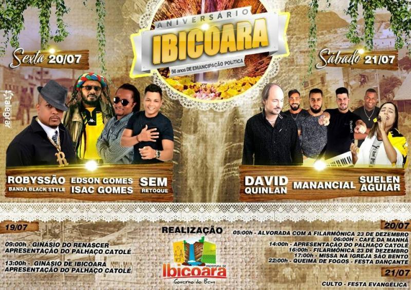 Aniversário de Ibicoara será comemorado com dois dias de festas; Shows incluem música gospel e secular