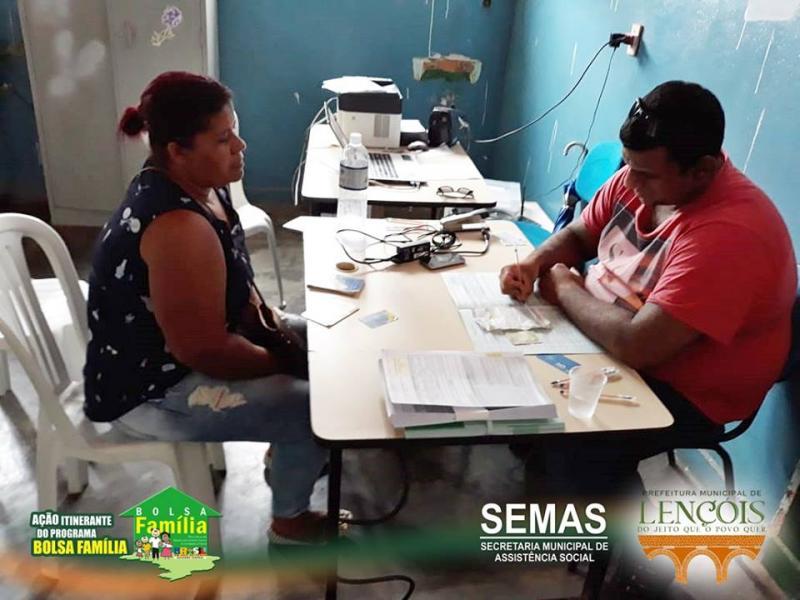 Programa Bolsa Família itinerante percorre Lençóis