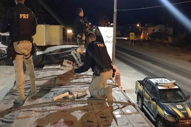 Polícia Rodoviária realiza apreensão de cigarros em Seabra