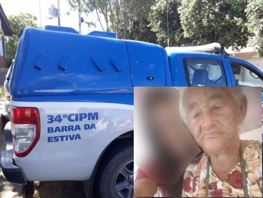 Barra da Estiva: Idosa de 88 anos é encontrada morta vítima de latrocínio