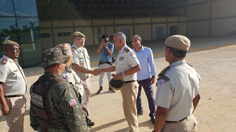 Lençois recebe visita do Comandante Geral da Polícia Militar da Bahia, Coronel Anselmo Brandão