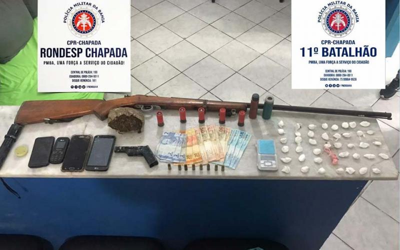 Combate ao Tráfico: Polícia apreende drogas e armas em Itatim