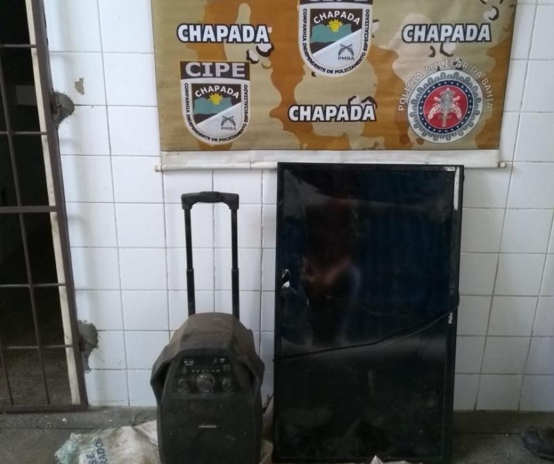 Cipe Chapada prende homem e recupera produtos roubados de um sítio em Itaete