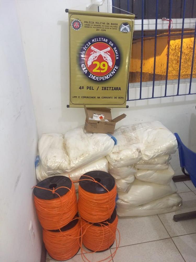 Chapada: 29ª CIPM apreende 250 kg de explosivos na cidade de Ibitiara