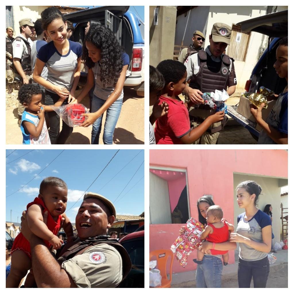 Polícia Militar e alunos de escolas municipais realizam ação beneficente em Ituaçu