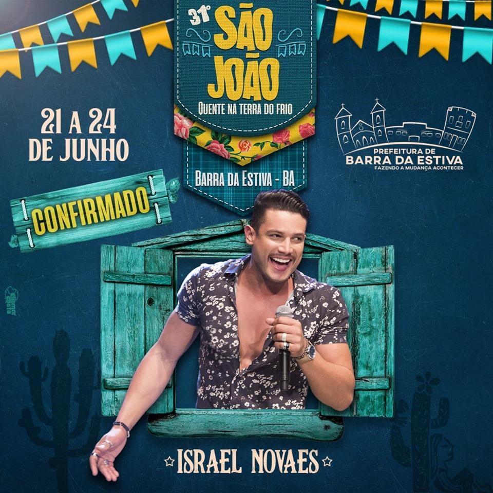 Prefeitura de Barra da Estiva anuncia Israel Novaes e Marlus Viana para o São João Quente na Terra do Frio