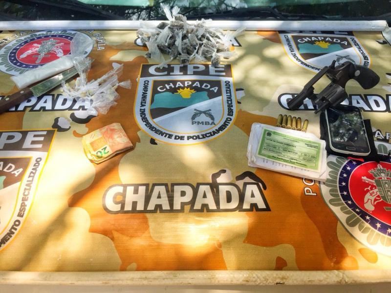 Cipe Chapada prende traficante em Ruy Barbosa