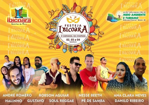 Divulgadas as atrações para o Festeja Ibicoara no Carnaval 2019