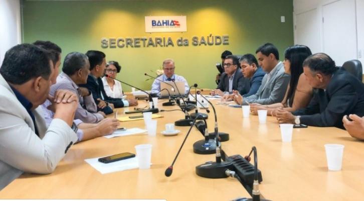 Prefeitos do Consórcio Chapada Forte se reúnem com secretário da Saúde