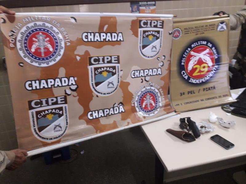 Cipe Chapada prende traficante com arma em Piatã