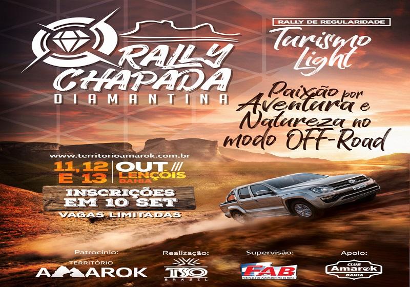 Rally Chapada Diamantina acontece em outubro em Lençois