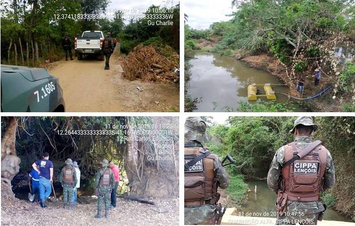 CIPPA Lençóis fiscaliza e combate captação de água irregular na bacia do Rio Utinga