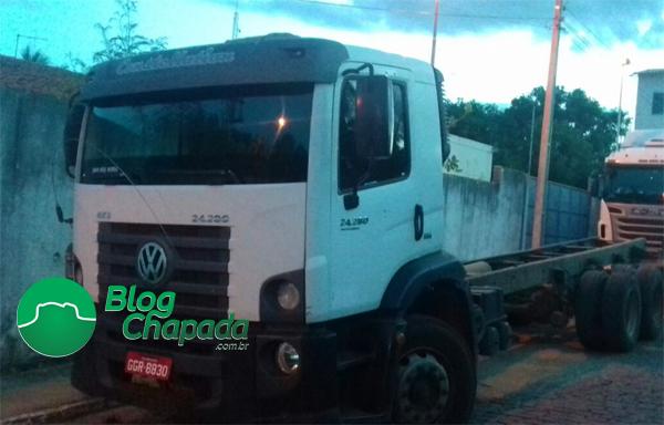 Caminhão que foi roubado em Seabra é recuperado em Brumado