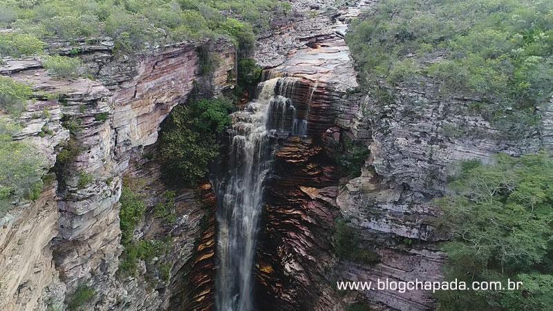 Cachoeira do Buracão em Ibicoara, destino de turistas do Brasil e do mundo